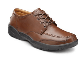 This men's diabetic shoe is stylish and comfortable.