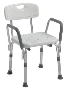 This shower seat helps bathing become more safe in the shower and decreases the chance of falling.
