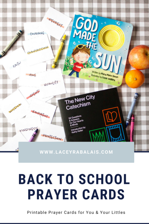 Back to School Prayer Cards