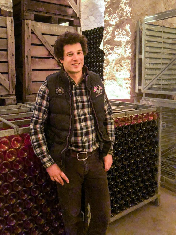 Maxime Ponson, un jeune vigneron qui allie talent et modestie.
