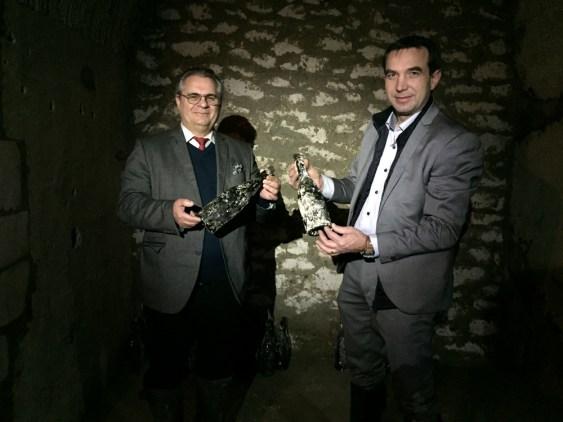 Une belle transmission de chefs de caves chez Pol Roger avec la découverte de bouteilles intactes dans les caves effondrées au début du XX ème siècle