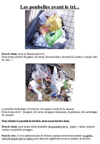 Les poubelles avant le tri déc