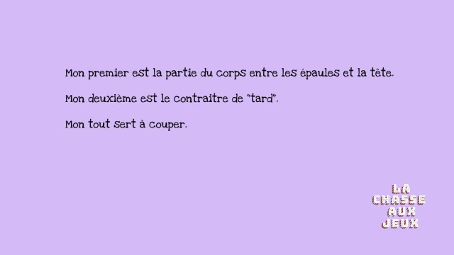 charade couteau