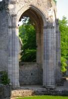 Jumièges, les voûtes gothiques de l'abbaye