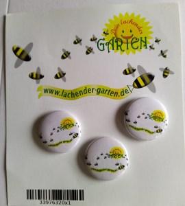 """Aufkleber und Buttons """"Dein lachender Garten auf https://www.spreadshirt.de/shop/user/dein+lachender+garten/"""