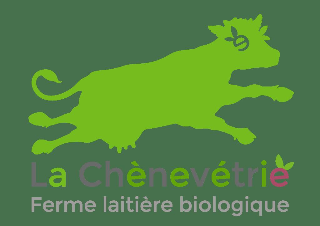 Vache trampoline verte, logo de La Chènevétrie