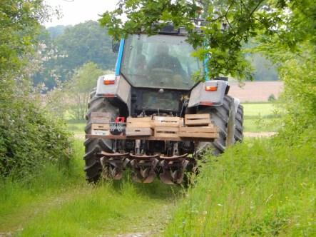 en route pour planter les patates