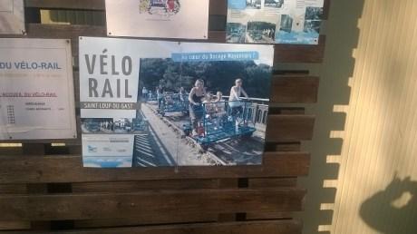 départ vélos-rail affiche
