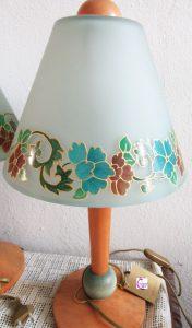 lampada vetro decorato