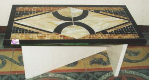 tavolo mosaico di vetro