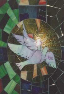 lampdada con mosaico di specchio