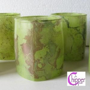 bicchieri di vetro marmorizzati lachipper.com