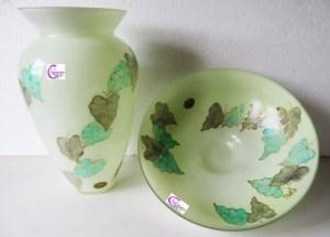 v114-vaso-centrotavola-verde-foglie-particolare