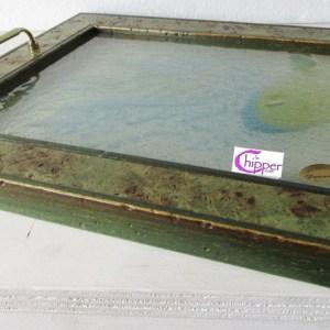 vassoio vetro decorato lachipper.com