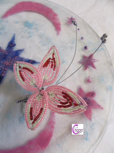 piatto vetro fuso con perline vetro www.lachipper.com