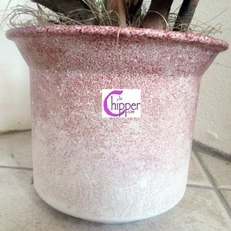 vaso ceramica spugnata con orchidee www.lachipper.com