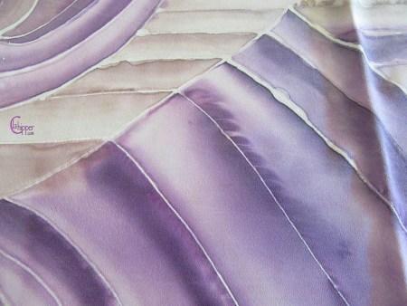 sciarpa di seta dipinta-particolare lachipper.com