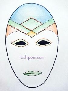 dipingere una maschera di carnevale lachipper.com