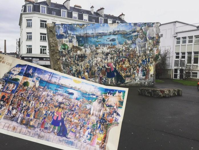 Le mur tombé du Ciel à Nantes