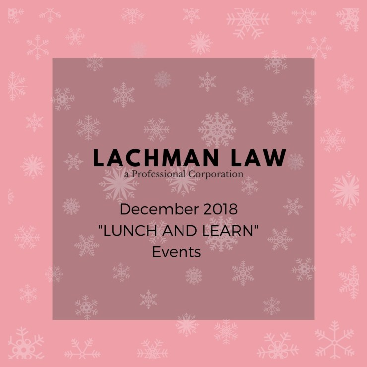 lunch and learn December