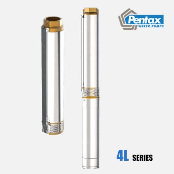 Bơm chìm giếng khoan đa tầng cánh Pentax 4L gia đình công suất nhỏ