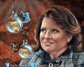 custom oil over acrylic portrait