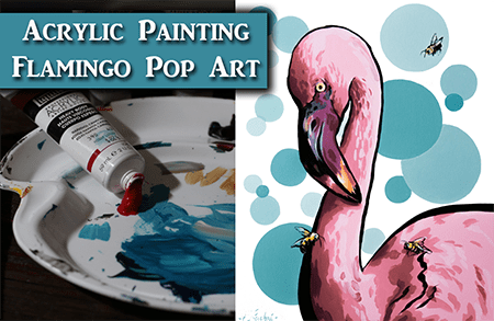 How to Paint a Pop Art Flamingo