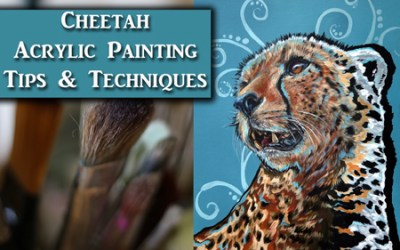 Acrylic Painting Lesson – Painting a Cheetah