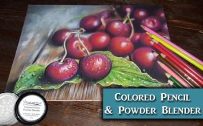 Cherries in Colored Pencil w/ Powder Blender