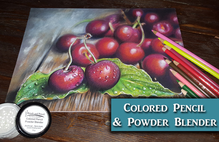Cherries in Colored Pencil w/ Powder Blender