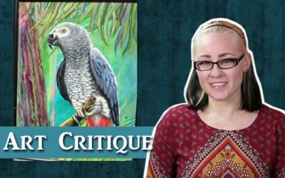 Painting Critique – Acrylic Parrot