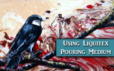 Using Liquitex Pouring Medium as a Background for an Acrylic Painting