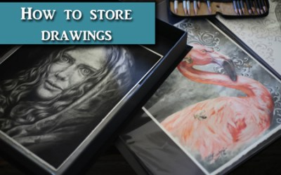 How to Store Graphite and Colored Pencil Artwork