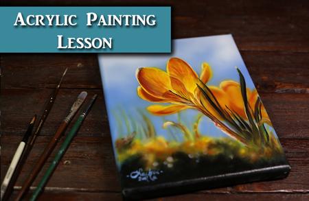 Acrylic Painting Flower Tutorial