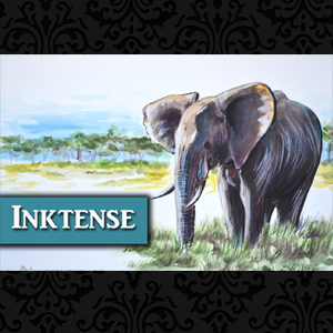 African Elephant painted in Inktense