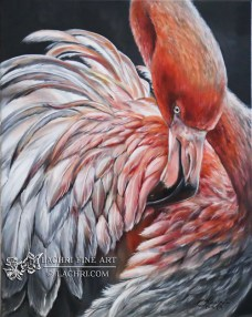 Flamingo Oil Painting