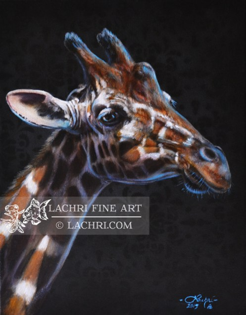 Giraffe Oil over Acrylic Painting