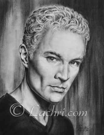 James Marsters (Spike, Buffy the vampire slayer) graphite and carbon pencil portrait