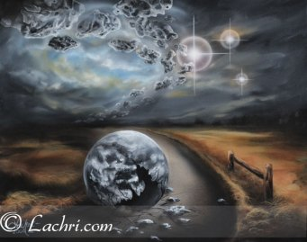 """""""vices"""" surreal acrylic painting"""