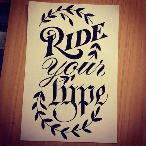 Ciclografica @ Santeria: Ride your type poster