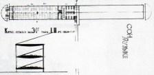 dormitorio bloque: planta y sección