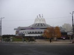 Circo de Dniepropetrovsk de 1980. Arquitectos: P. Nirinberg y S. subraev
