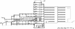 sección transversal del edificio A