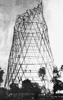 foto tomada el 29 de junio de 1921 inmediatamente después del accidente del cuarto hiperboloide