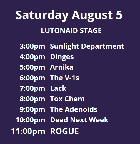 luton aid stage times