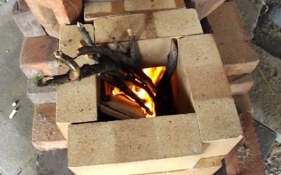 Making a start on the rocket mass heater