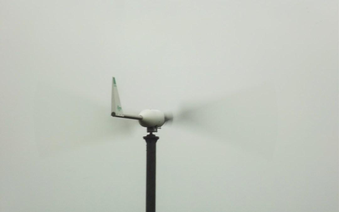 Wind turbine first proper test
