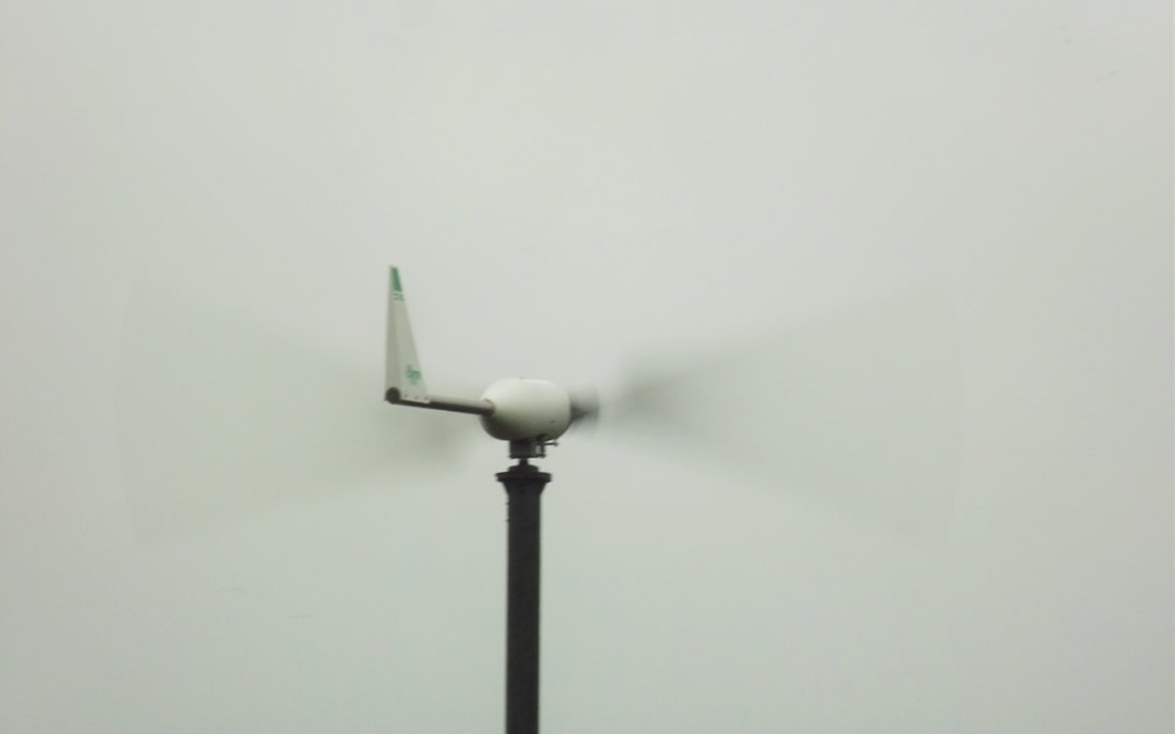 Wind turbine first proper test