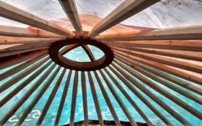 Building a pallet yurt