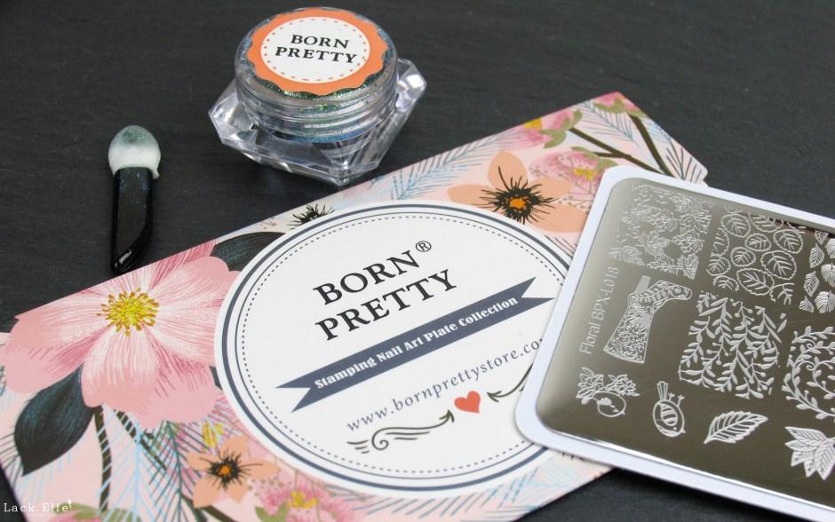 BPS Bornpretty Store 38741 Floral Stamping Plate 39392 Chameleon Glitter